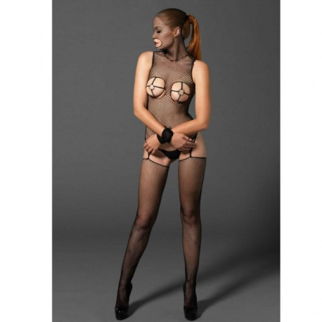 LEG AVENUE KINK BODYSTOCKING  CON AROS GOLD Y ESPOSAS