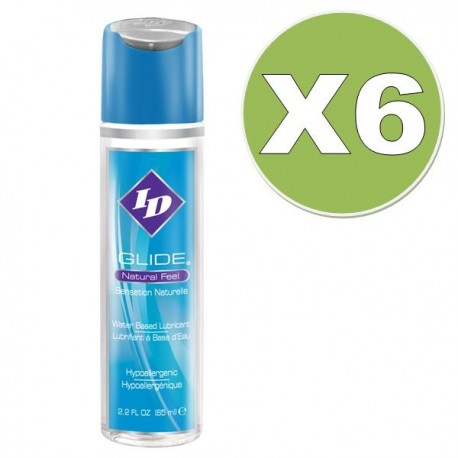 ID LUBRICANTE BASE AGUA  65 ML PACK 6 UDS