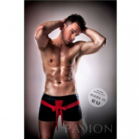 PASSION 001 KOMPLET LEATHER ROJO/NEGRO S/M