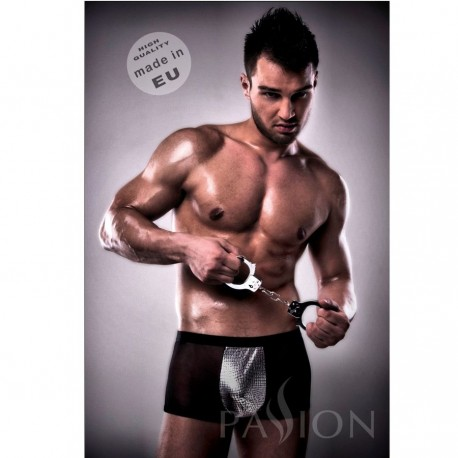 PASSION 002 MEN METAL BLACK LINGERIE L/XL