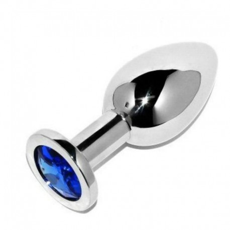 METALHARD ANAL PLUG DIAMOND BLUE SMALL 5.71CM