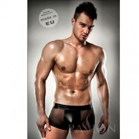 PASSION 003 MEN BLACK LEATHER CLEAR XXL /XXXL