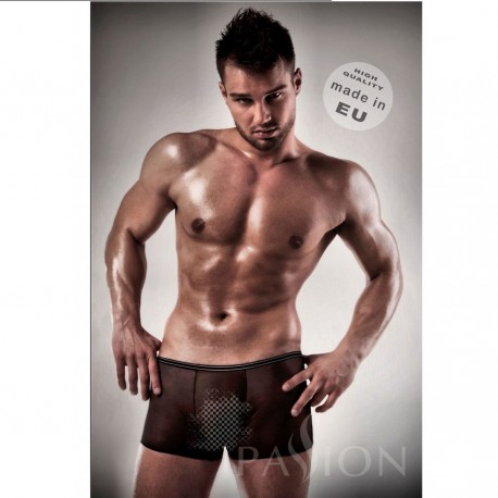 PASSION MEN 025 BOXER NEGRO TRANSPARENTE XXL/XXXL